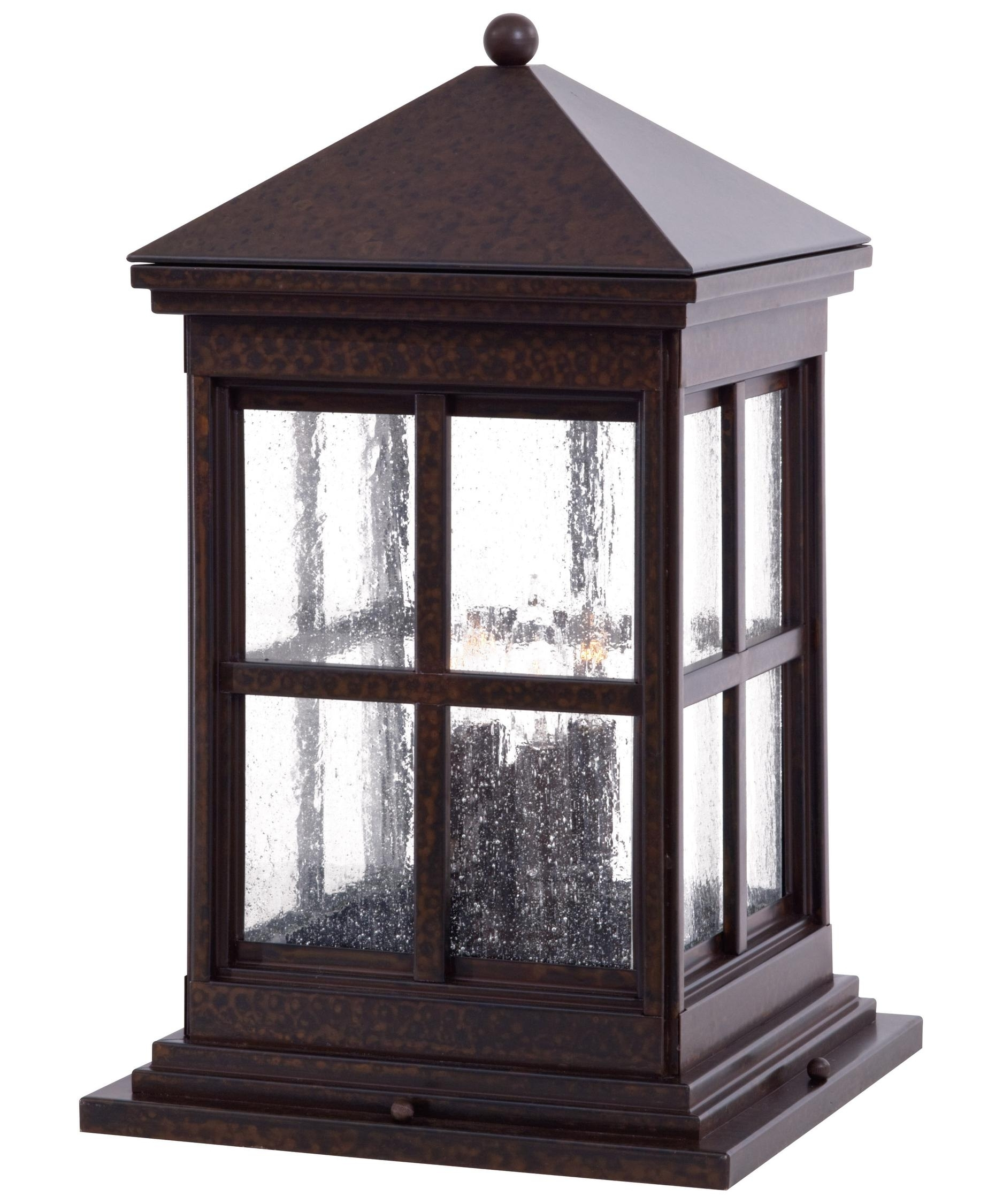 Minka Lavery 8567 Berkeley 4 Light Outdoor Pier Lamp | Capitol Throughout Low Voltage Led Post Lights (#12 of 15)