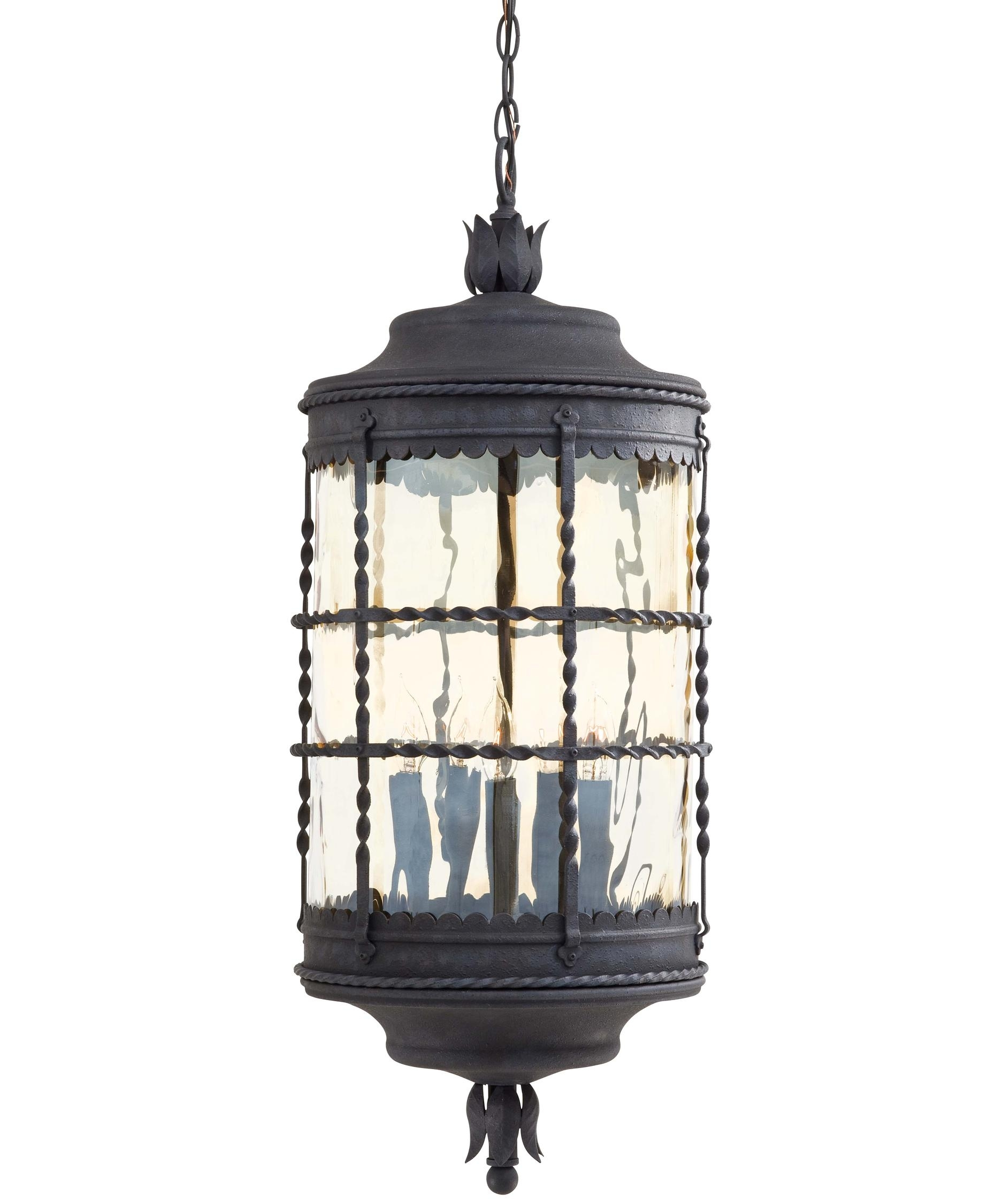 Minka Lavery 8884 Mallorca 13 Inch Wide 5 Light Outdoor Hanging Intended For Outdoor Hanging Glass Lights (#7 of 15)