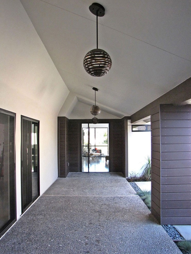 Inspiration about Modern California House Design In Cozy Sensation: Minimalist Gray Throughout Outdoor Entryway Hanging Lights (#10 of 15)