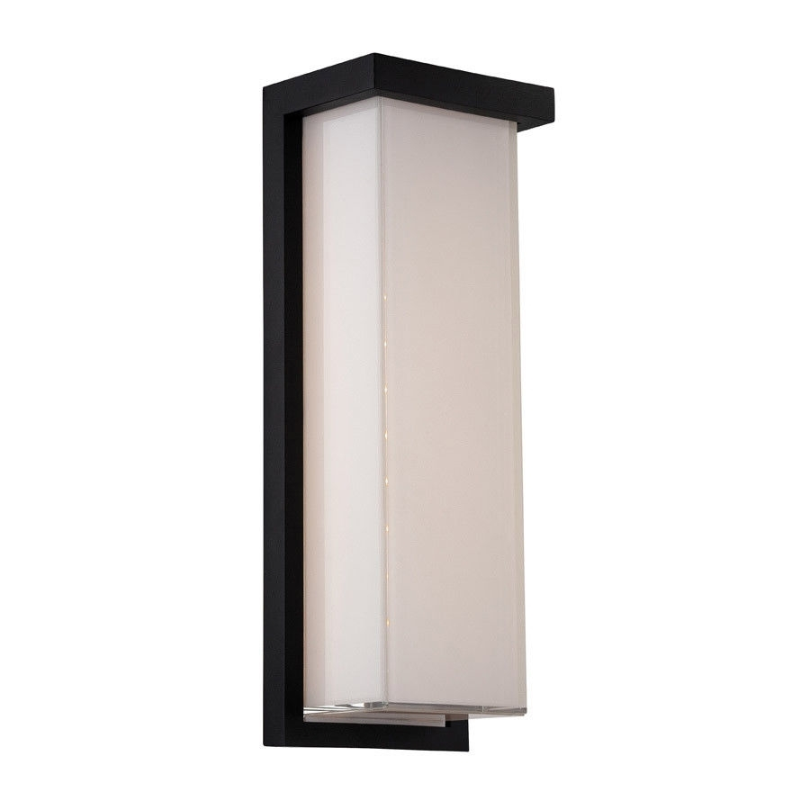 Modern Forms Ws W1414 Bk Ledge Led 14 Inch Black Outdoor Wall Light With Outdoor Wall Lighting At Ebay (#12 of 15)
