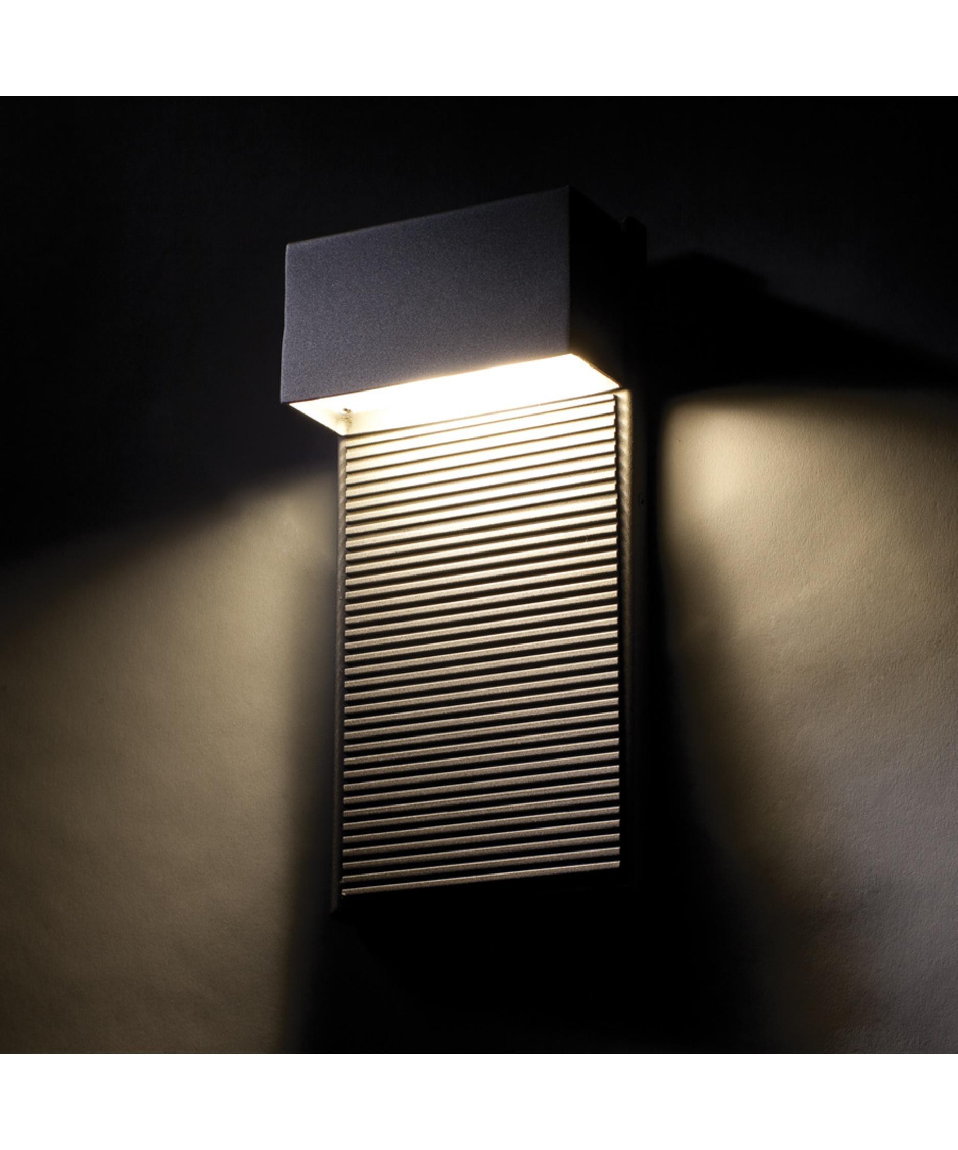 Modern Forms Ws W2308 Hiline 5 Inch Wide 2 Light Outdoor Wall Light In Black Outdoor Wall Lighting (#11 of 15)