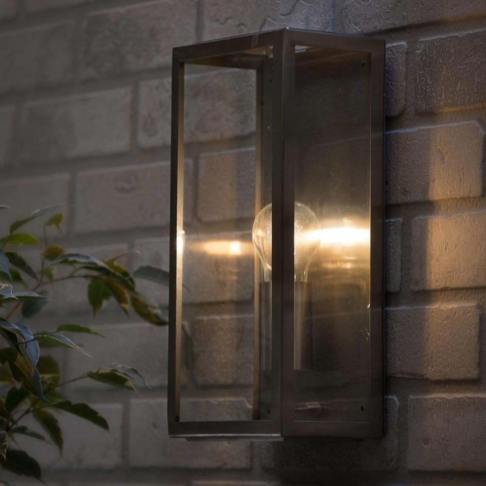 Modern Garden Outdoor Ip44 Rated Wall Lantern Light Stainless Steel For Garden Outdoor Wall Lights (#14 of 15)