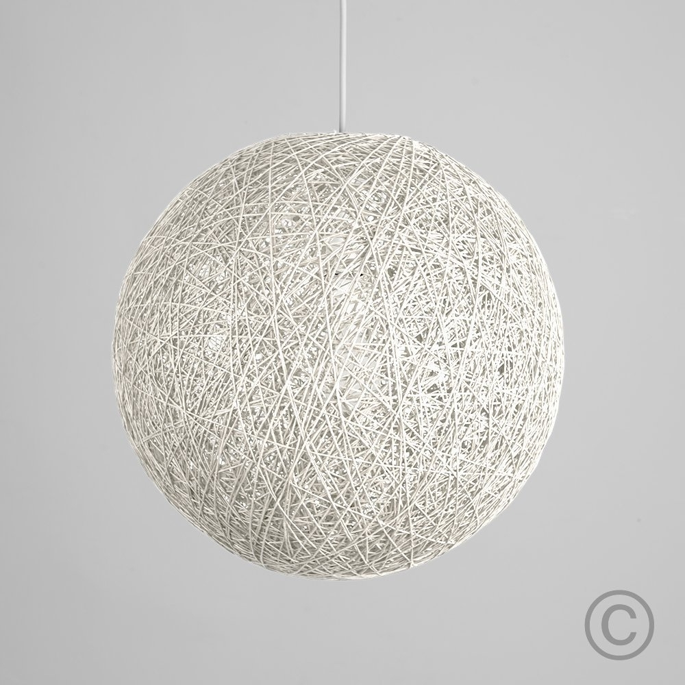 Inspiration about Modern Large White Lattice Wicker Rattan Globe Ball Style Ceiling Regarding Outdoor Hanging Wicker Lights (#9 of 15)