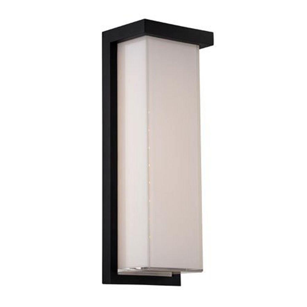 Modern Led Outdoor Wall Light In Black Finish | Ws W1414 Bk Intended For Black Outdoor Wall Lighting (#12 of 15)