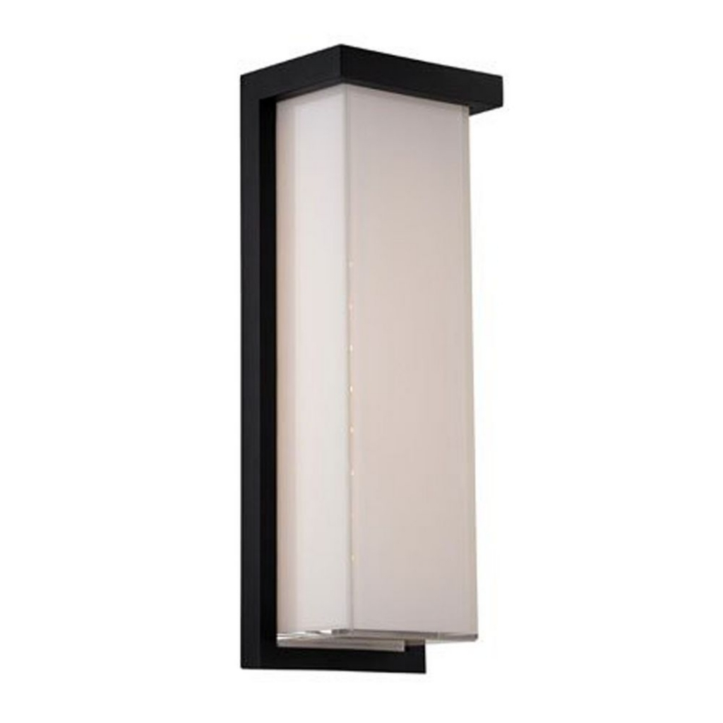 Modern Led Outdoor Wall Light In Black Finish Ws W1414 Bk Modern Regarding Black Outdoor Led Wall Lights (#12 of 15)