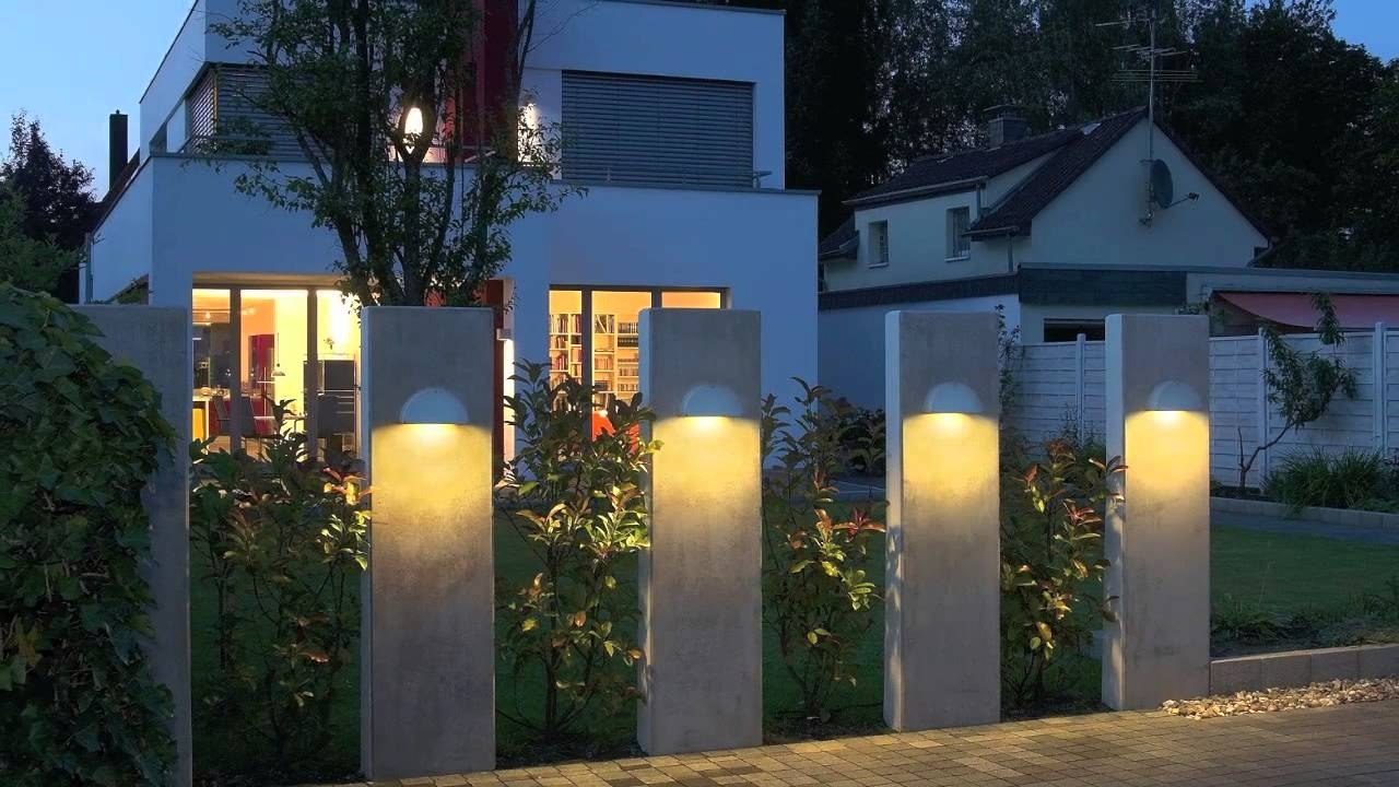 Modern Outdoor Lighting Fixture Design Ideas – Youtube With Regard To Modern Led Solar Garden Lighting Fixture (#11 of 15)