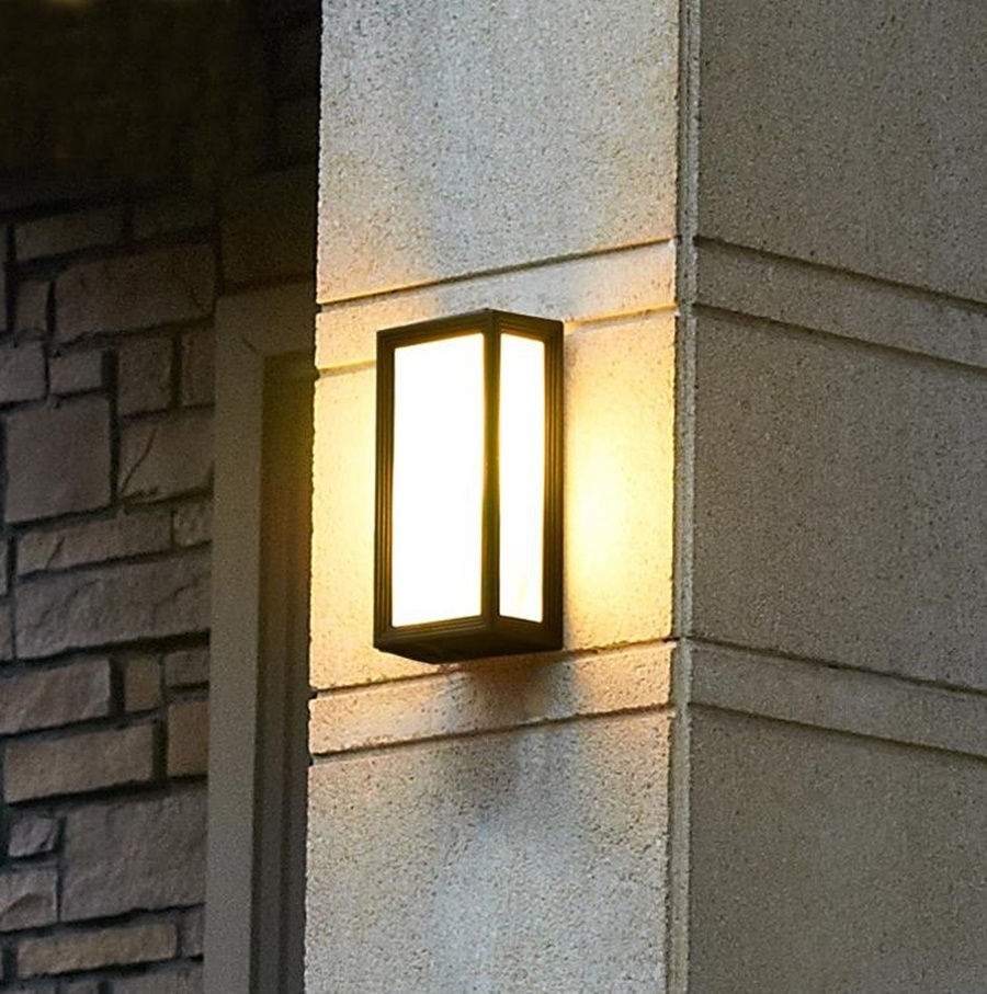 Modern Outdoor Wall Light | Sorrentos Bistro Home For Black Contemporary Outdoor Wall Lighting (#13 of 15)
