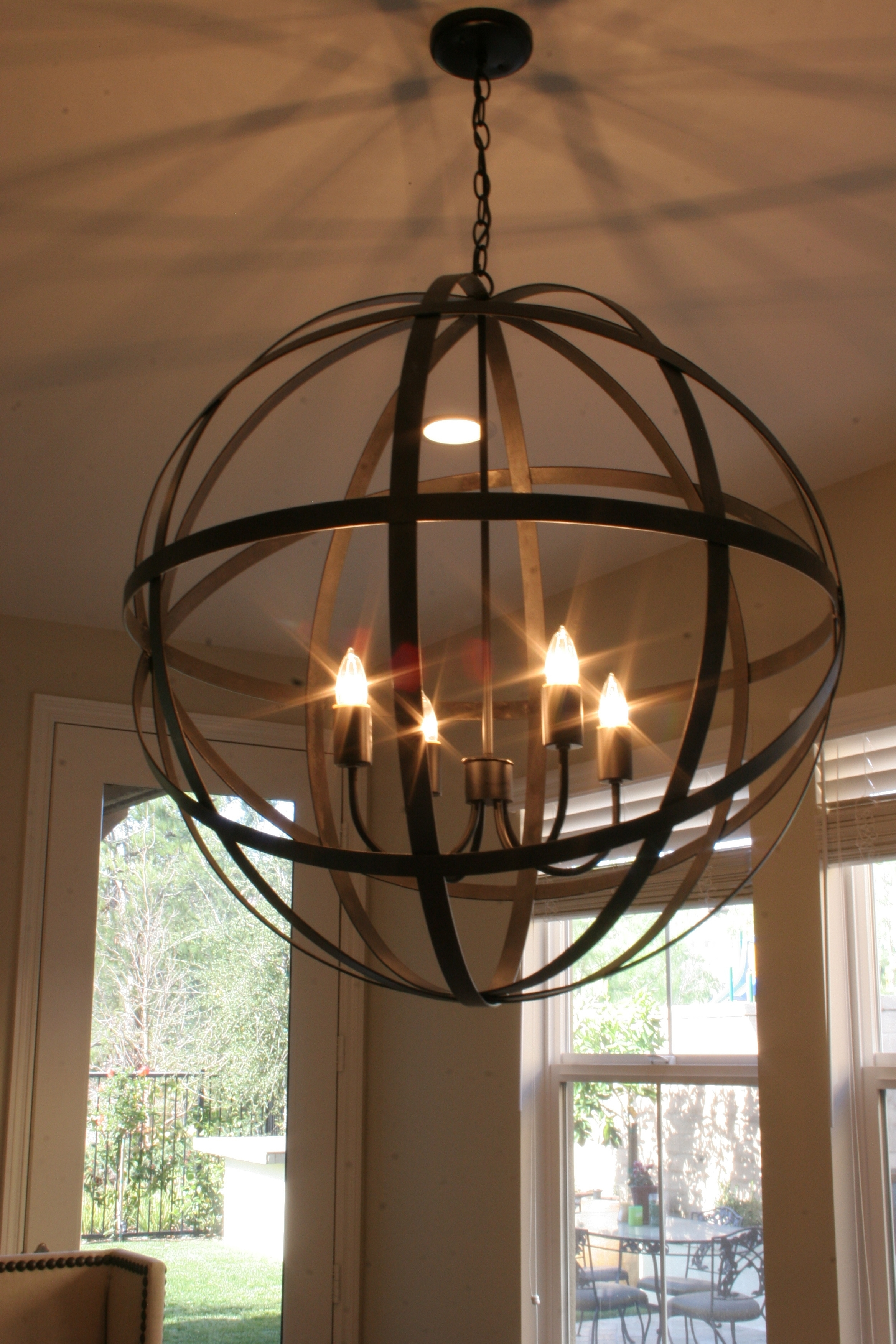 Modern Rustic Chandelier Agreeable Iron Lightingning Room Track Home Intended For Modern Rustic Outdoor Lighting At Home Depot (#6 of 15)
