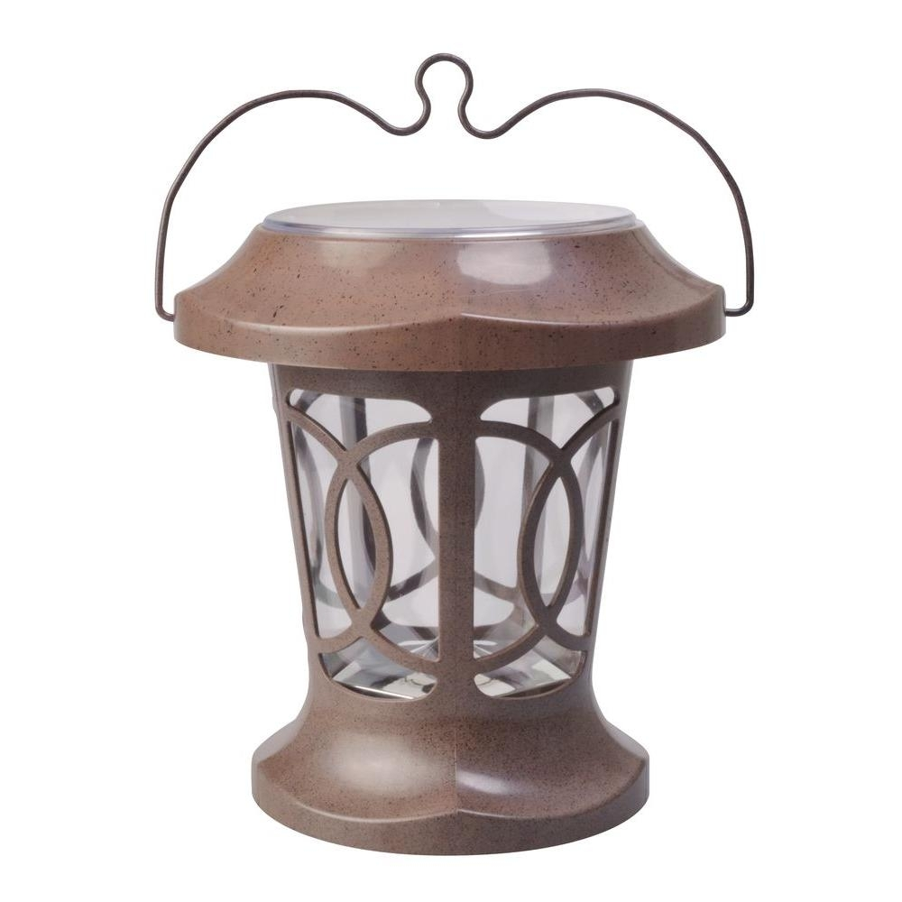 Inspiration about Moonrays Bradbury Brown Solar Powered Outdoor Hanging Light 91399 Intended For Solar Powered Outdoor Hanging Lanterns (#12 of 15)