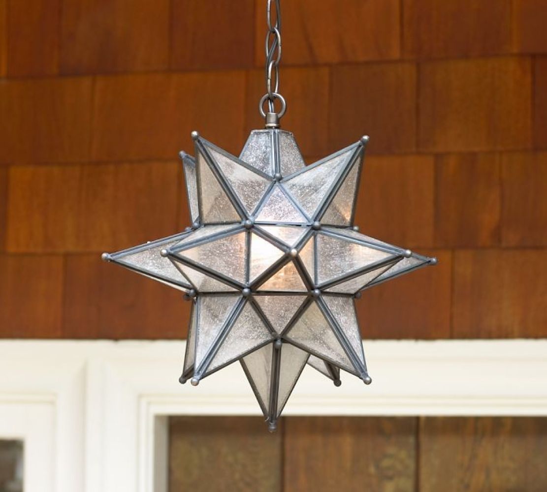 Inspiration about Moravian Star Chandelier Large Moravian Star Table Lamp Hanging Pertaining To Outdoor Hanging Star Lights (#7 of 15)