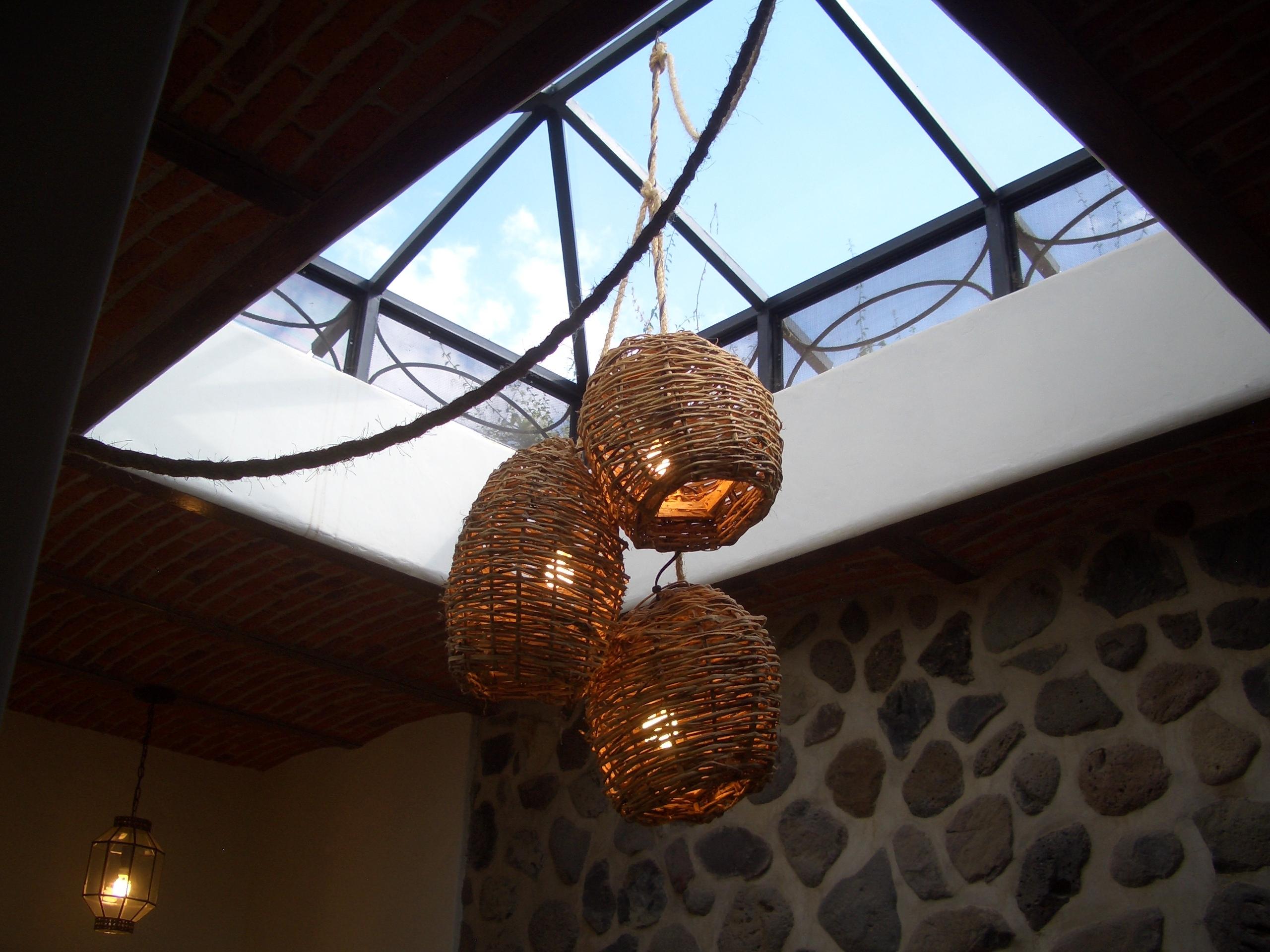 More Light Fixtures! | Casa Mosaica In Ajijic, Jalisco, Mexico Regarding Outdoor Hanging Basket Lights (#14 of 15)