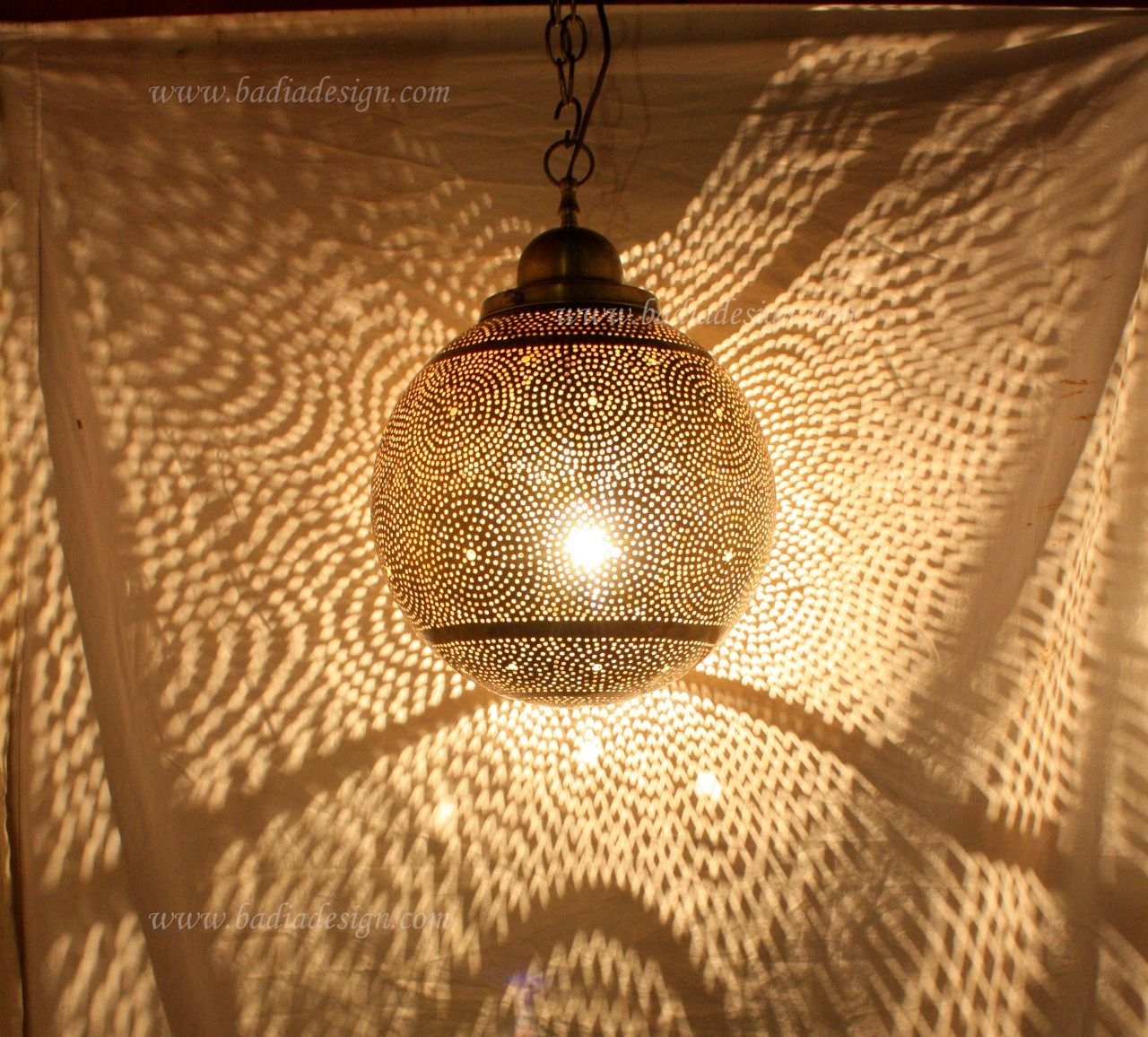 Inspiration about Moroccan Hanging Brass Lantern – Ll089 | Brass Lantern, Moroccan And Pertaining To Outdoor Hanging Moroccan Lanterns (#9 of 15)
