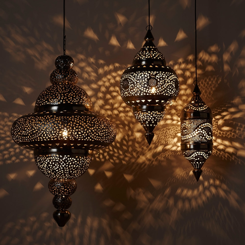 Inspiration about Moroccan Hanging Lamp Collection – Bright Copper | Vivaterra Inside Outdoor Hanging Moroccan Lanterns (#8 of 15)