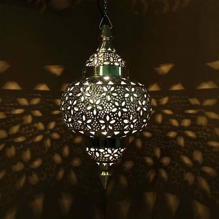 Popular Photo of Outdoor Hanging Moroccan Lanterns