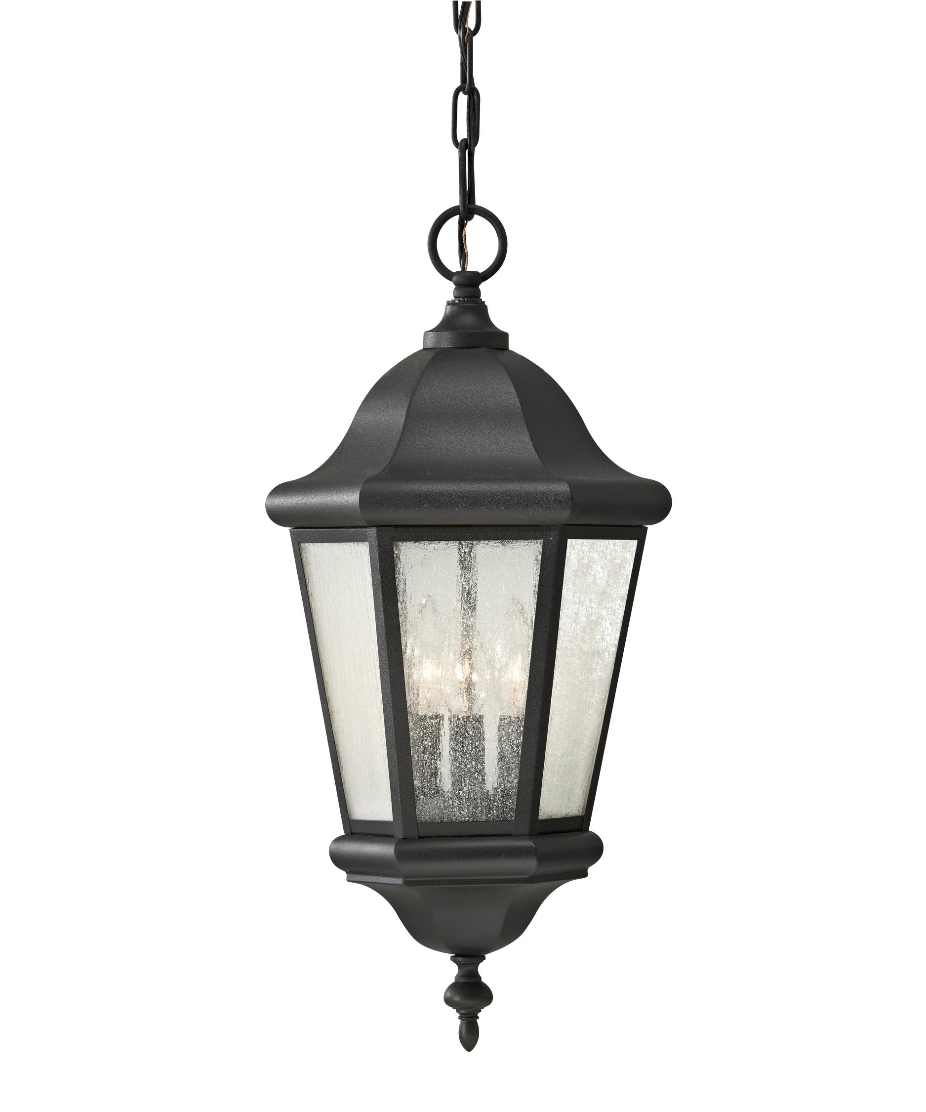 Murray Feiss Ol5911 Martinsville 10 Inch Wide 3 Light Outdoor In Outdoor Hanging Light In Black (#8 of 15)
