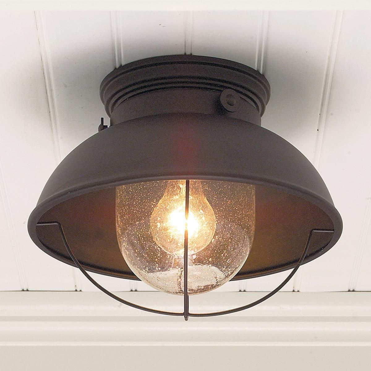 Nantucket Ceiling Light | Ceiling Lights, Antique Copper And Ceilings Intended For Round Outdoor Ceiling Lights (#7 of 15)