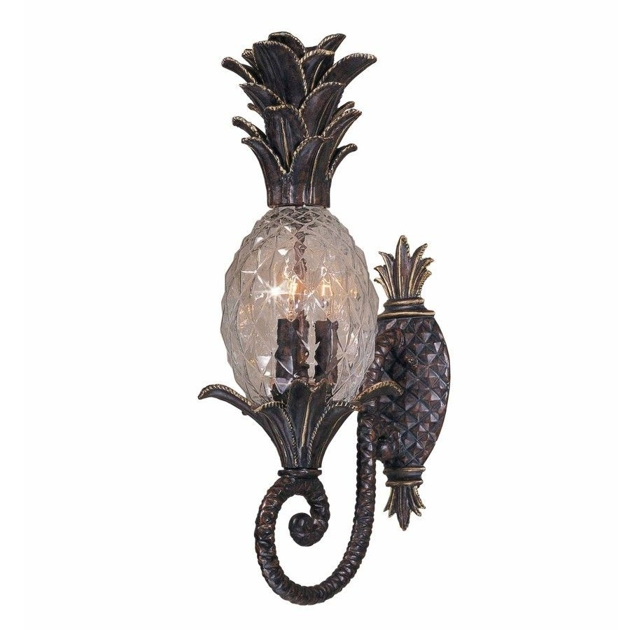 New 3 Light Tropical Outdoor Wall Lamp Lighting Fixture, Bronze Intended For Tropical Outdoor Wall Lighting (#8 of 15)