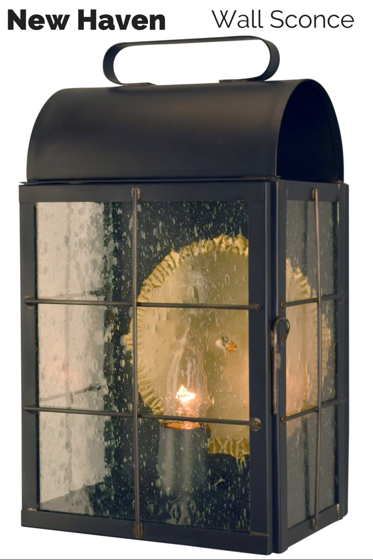New Haven Outdoor Wall Sconce Lantern | Copper Lantern, Outdoor Pertaining To Made In Usa Outdoor Wall Lighting (#11 of 15)