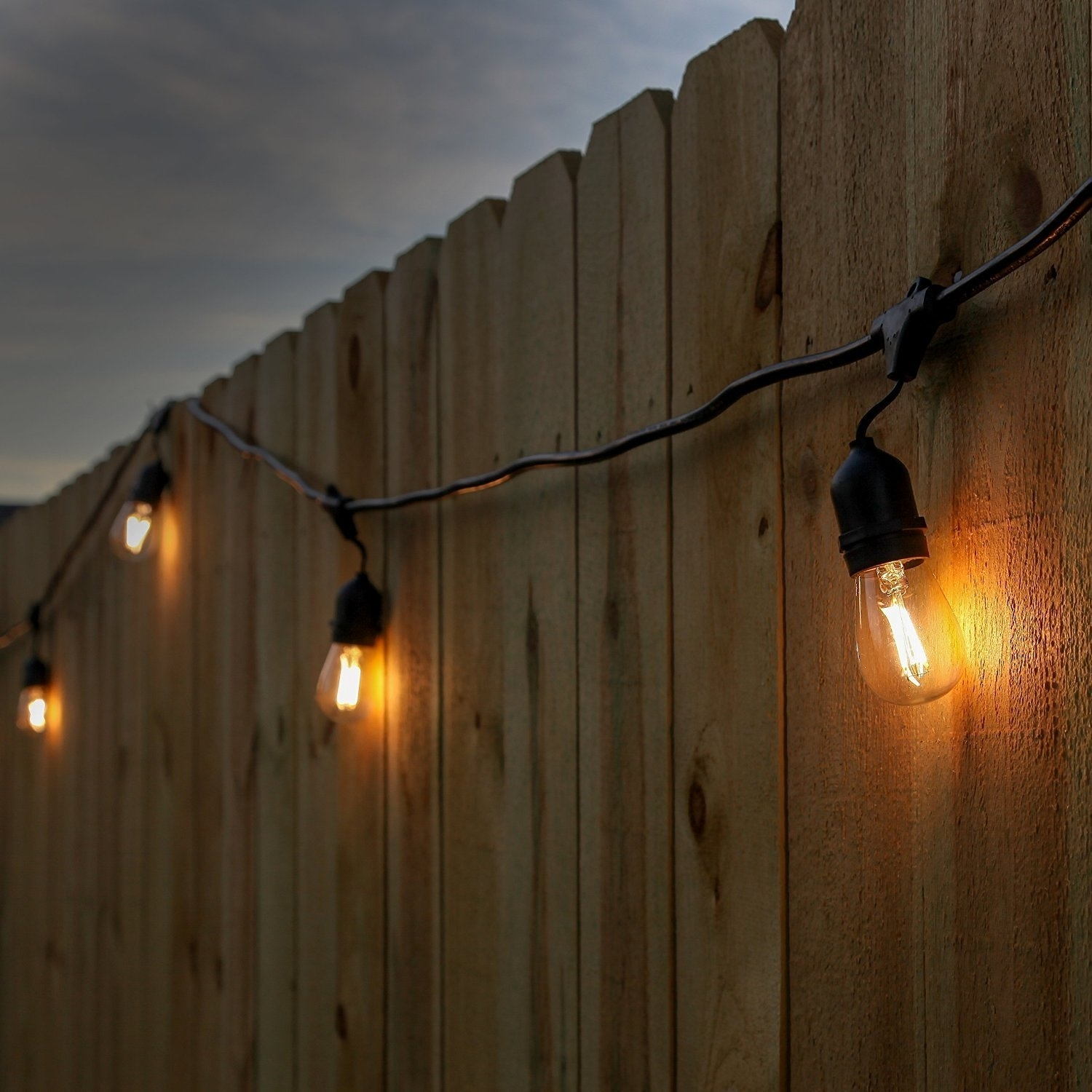 Newhouse Lighting 48 Foot Outdoor String Lights, Led Bulbs Included With Outdoor Hanging String Light Bulbs (#6 of 15)