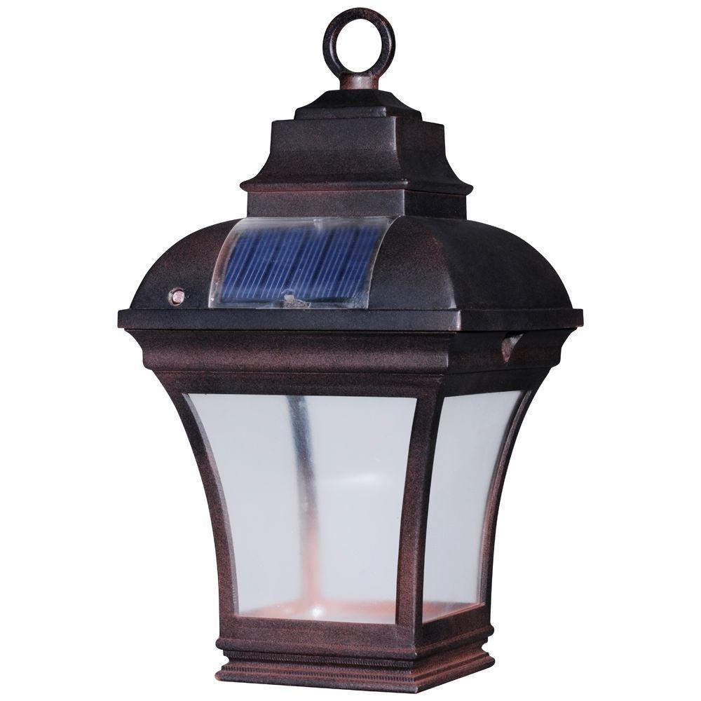 Newport Coastal Altina Outdoor Solar Led Hanging Lantern 7786 04Bz 1 Intended For Outdoor Hanging Garden Lanterns (#11 of 15)