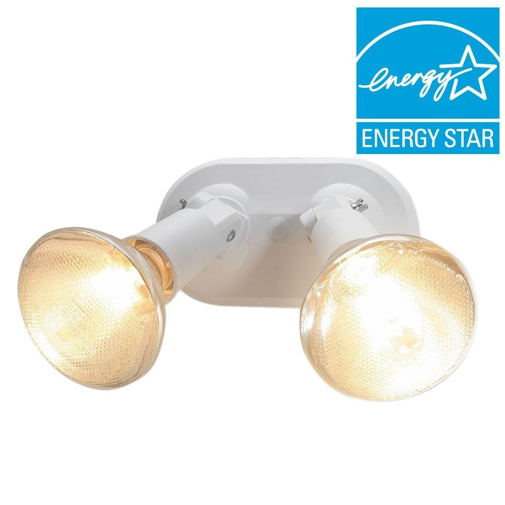 Newport Coastal Del Mar 2 Lamp White Outdoor Flood Light 7871 01W With Regard To Outdoor Ceiling Flood Lights (#12 of 15)