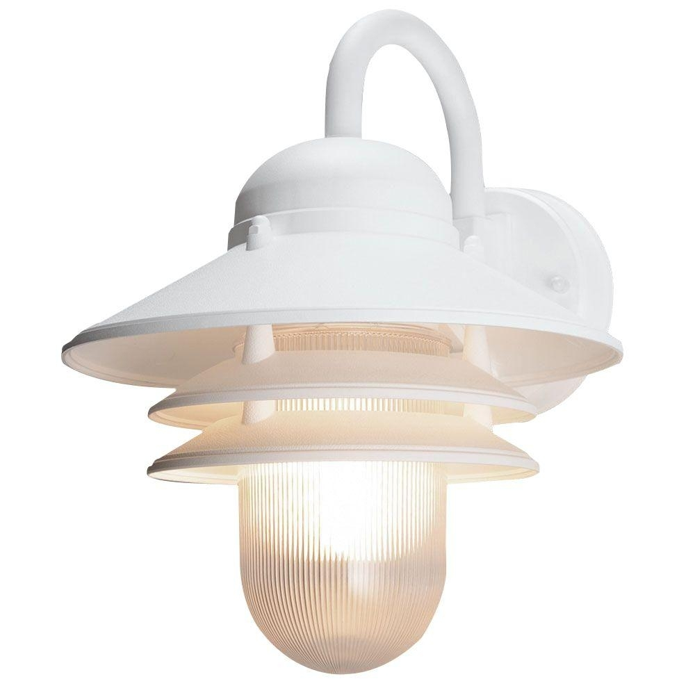Newport Coastal Marina White Outdoor Wall Mount Lamp 7972 10W – The Inside White Outdoor Wall Lights (#9 of 15)