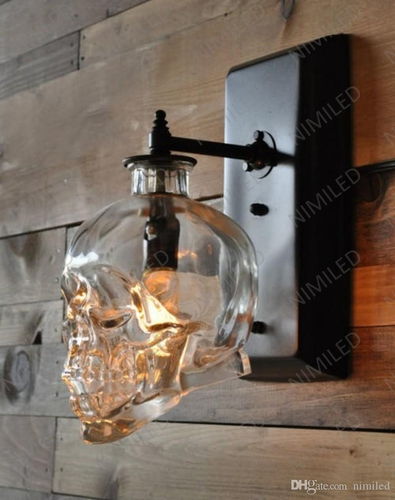 Nimi602 Loft Personality Industrial Iron+Glass Retro Bar Outdoor In Industrial Outdoor Wall Lighting (#14 of 15)