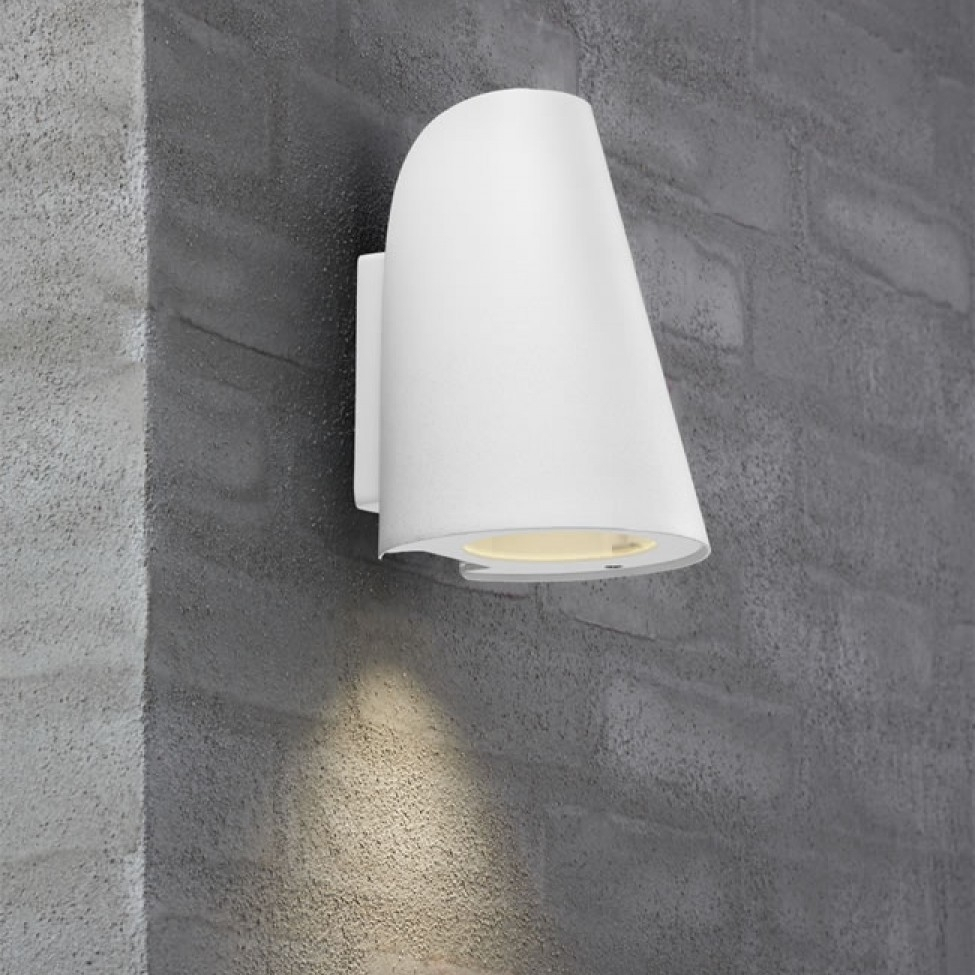 Nordlux Sail E27 Outdoor Wall Light – White Inside White Outdoor Wall Lighting (#9 of 15)