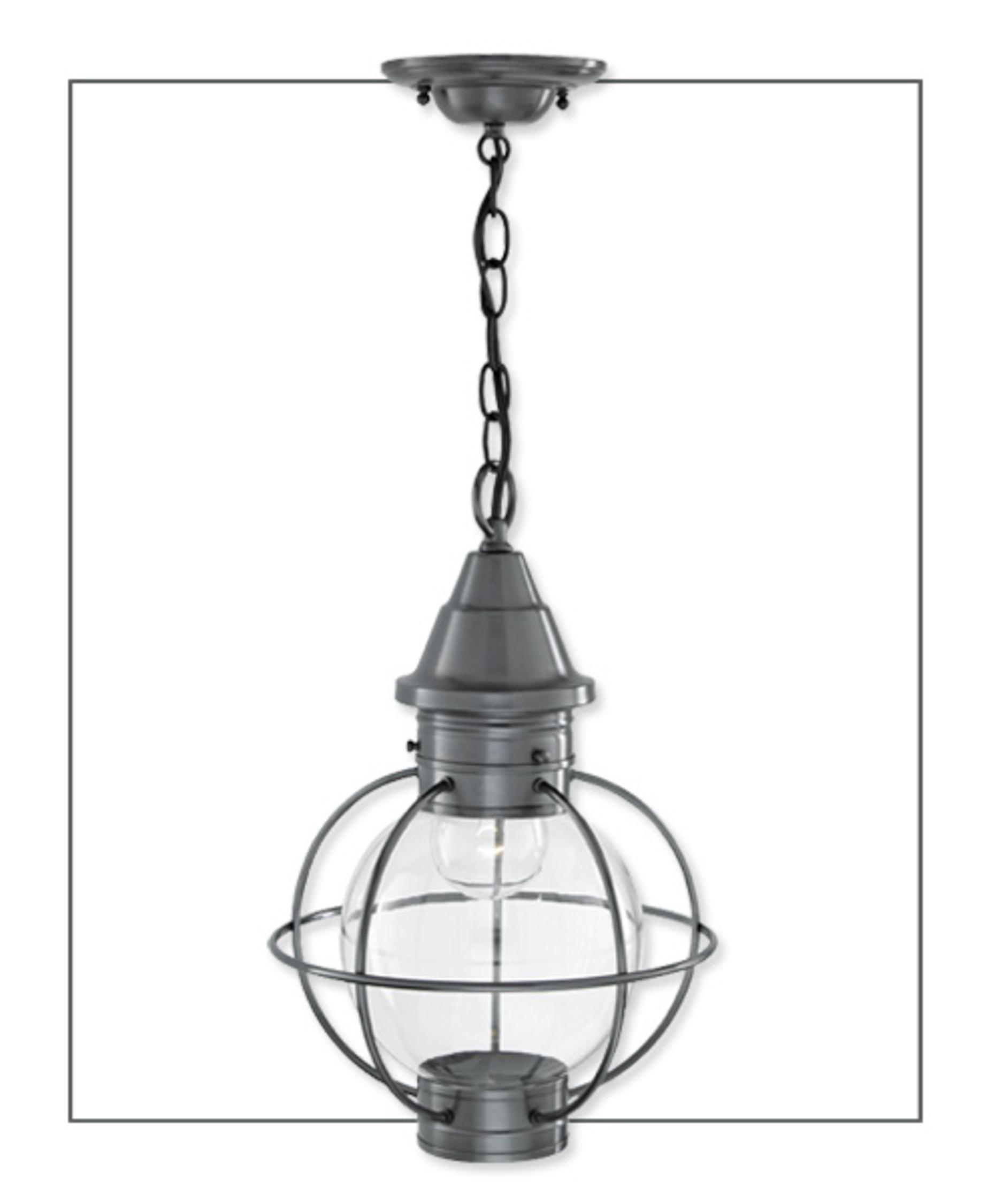 Norwell 1524 Globe Vidalia Onion 11 Inch Wide 1 Light Outdoor Inside Hanging Outdoor Onion Lights (#10 of 15)