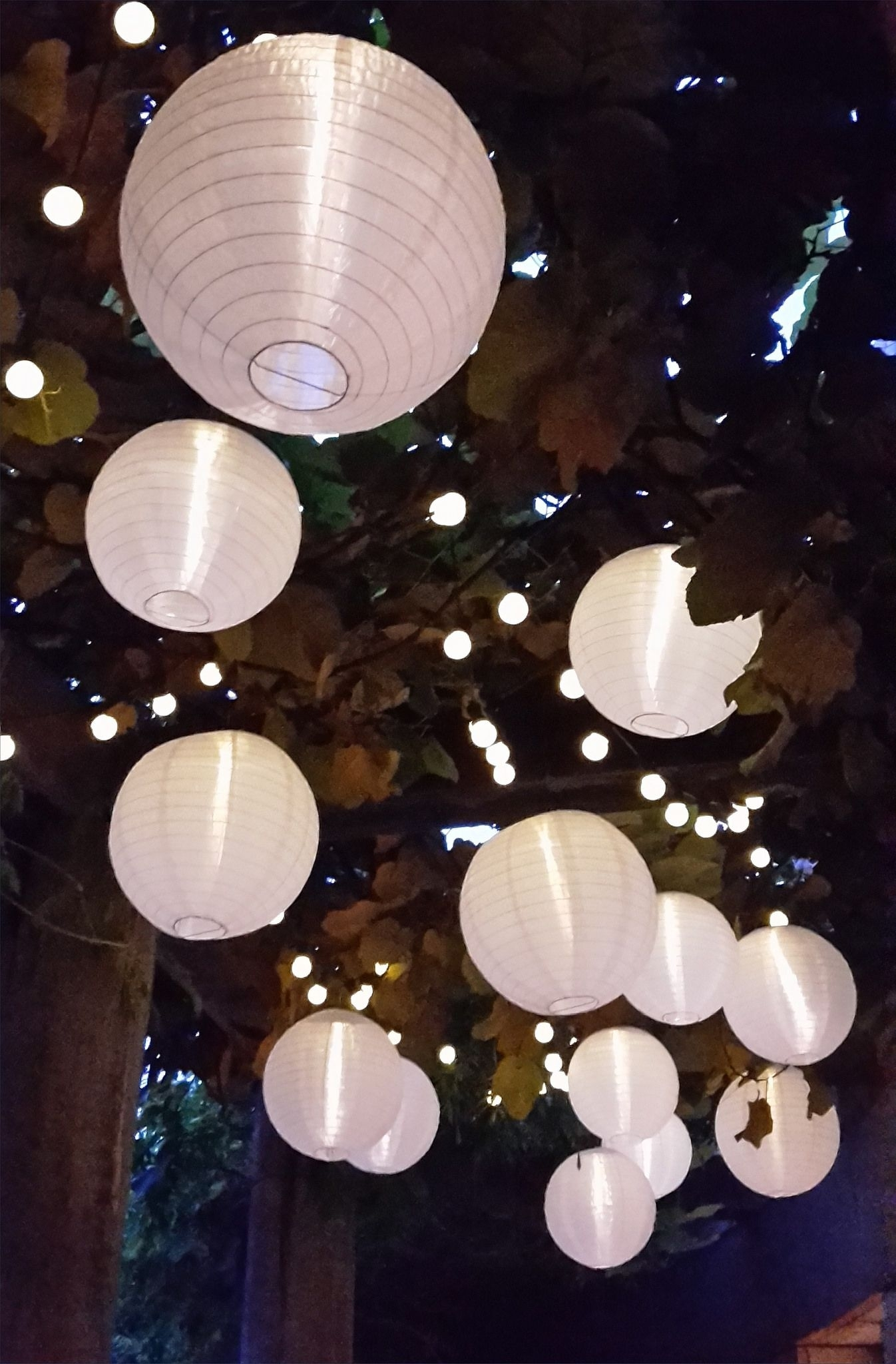 Nylon Solar Lanterns And Solar String Lights Are Perfect For Outdoor Regarding Outdoor Hanging Nylon Lanterns (#14 of 15)