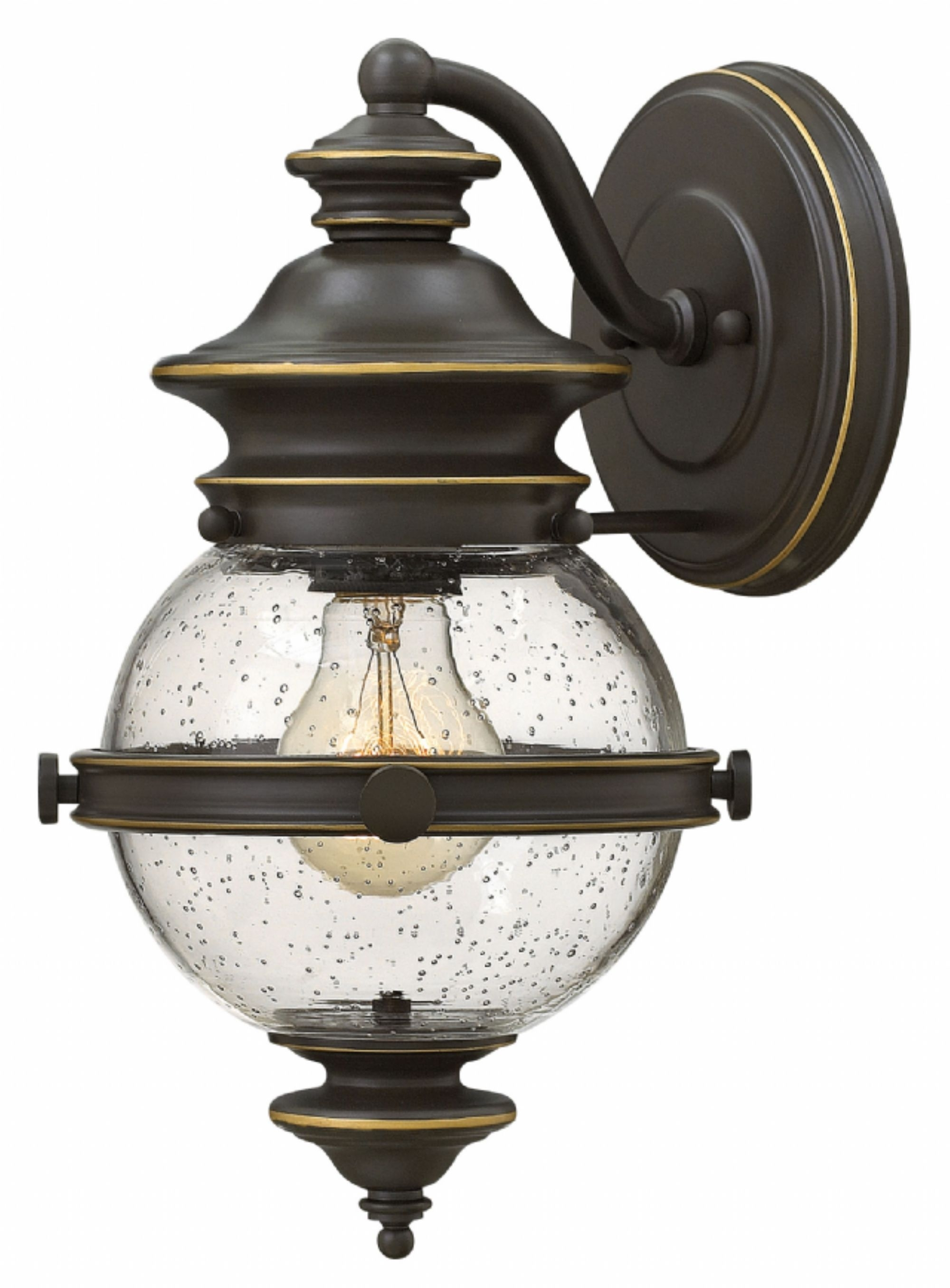 Oil Rubbed Bronze Saybrook > Exterior Wall Mount Within Outdoor Wall Mounted Globe Lights (#11 of 15)