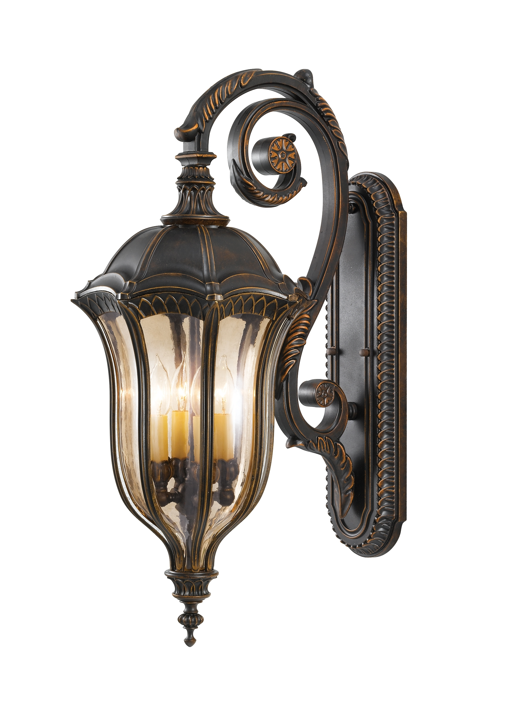 Ol6004Wal,4 – Light Wall Lantern,walnut Pertaining To Tuscan Outdoor Wall Lighting (#10 of 15)