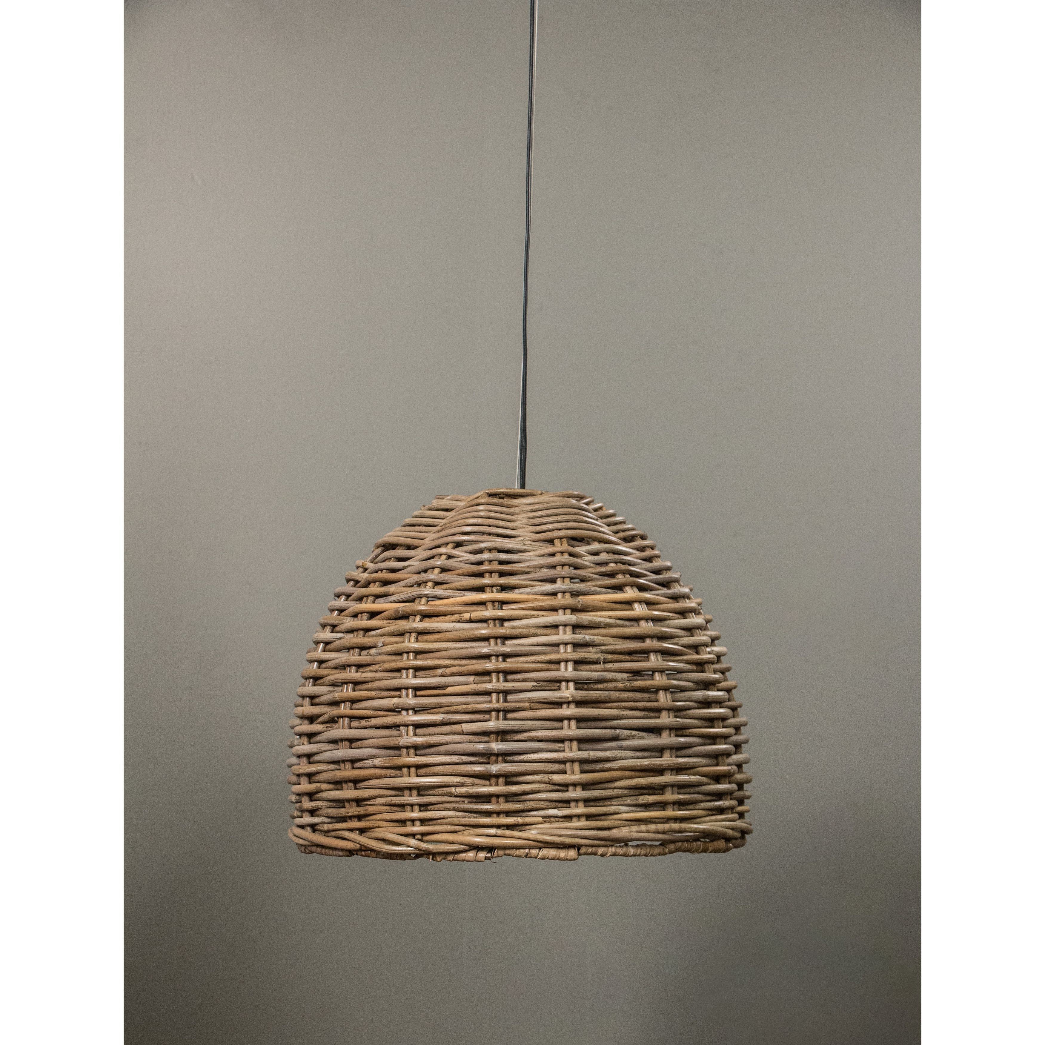 Our Dawson Hanging Lamp Is Made With The Natural Material, Rattan Regarding Outdoor Hanging Wicker Lights (#11 of 15)