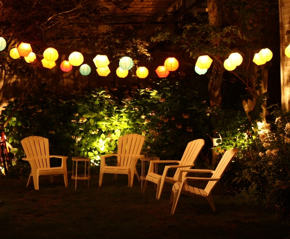 Outdoor And Patio: Attractive Outdoor Party Lighting With String Within Outdoor Hanging String Lanterns (View 12 of 15)