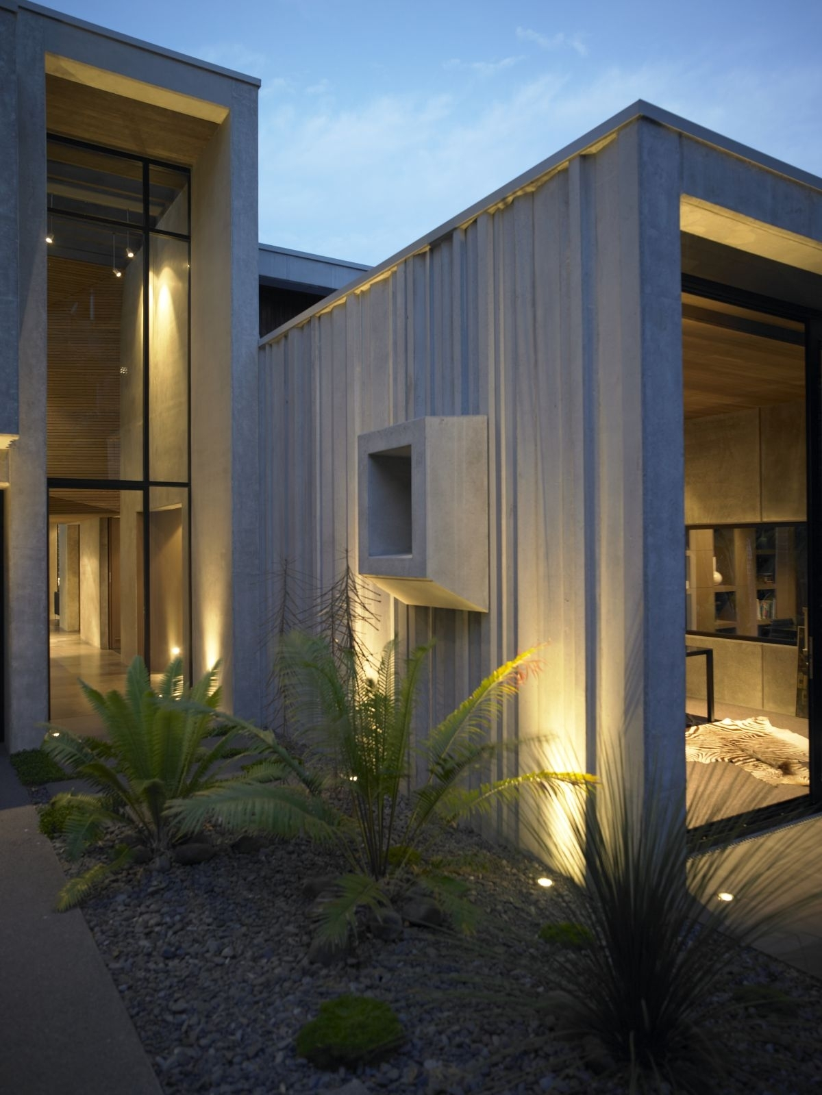Outdoor And Patio: Modern Exterior Lighting Fixtures On Stones With Regard To Contemporary Porch Light Fixtures For Garden (#10 of 15)