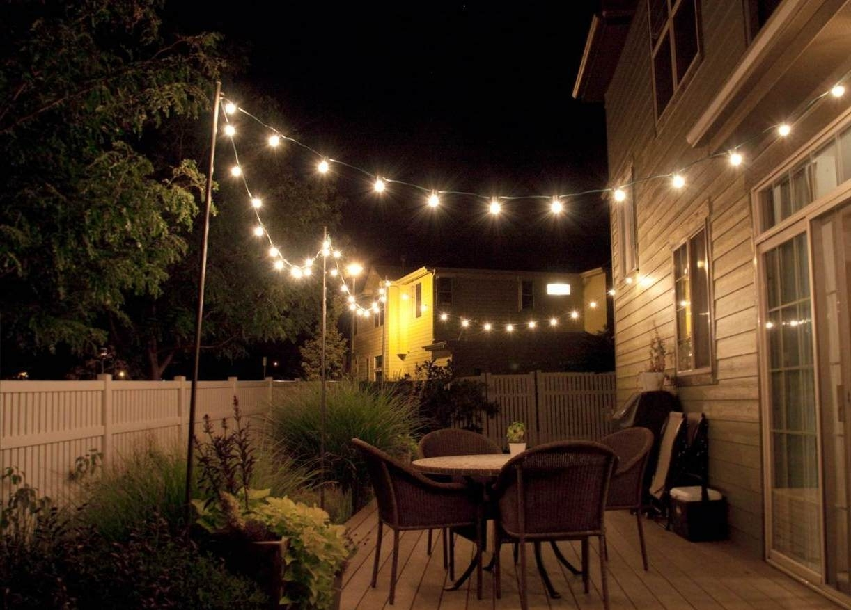 Outdoor And Patio: Outdoor Hanging Lighting For Party With Glasses Inside Outdoor Hanging Lights For Patio (View 12 of 15)