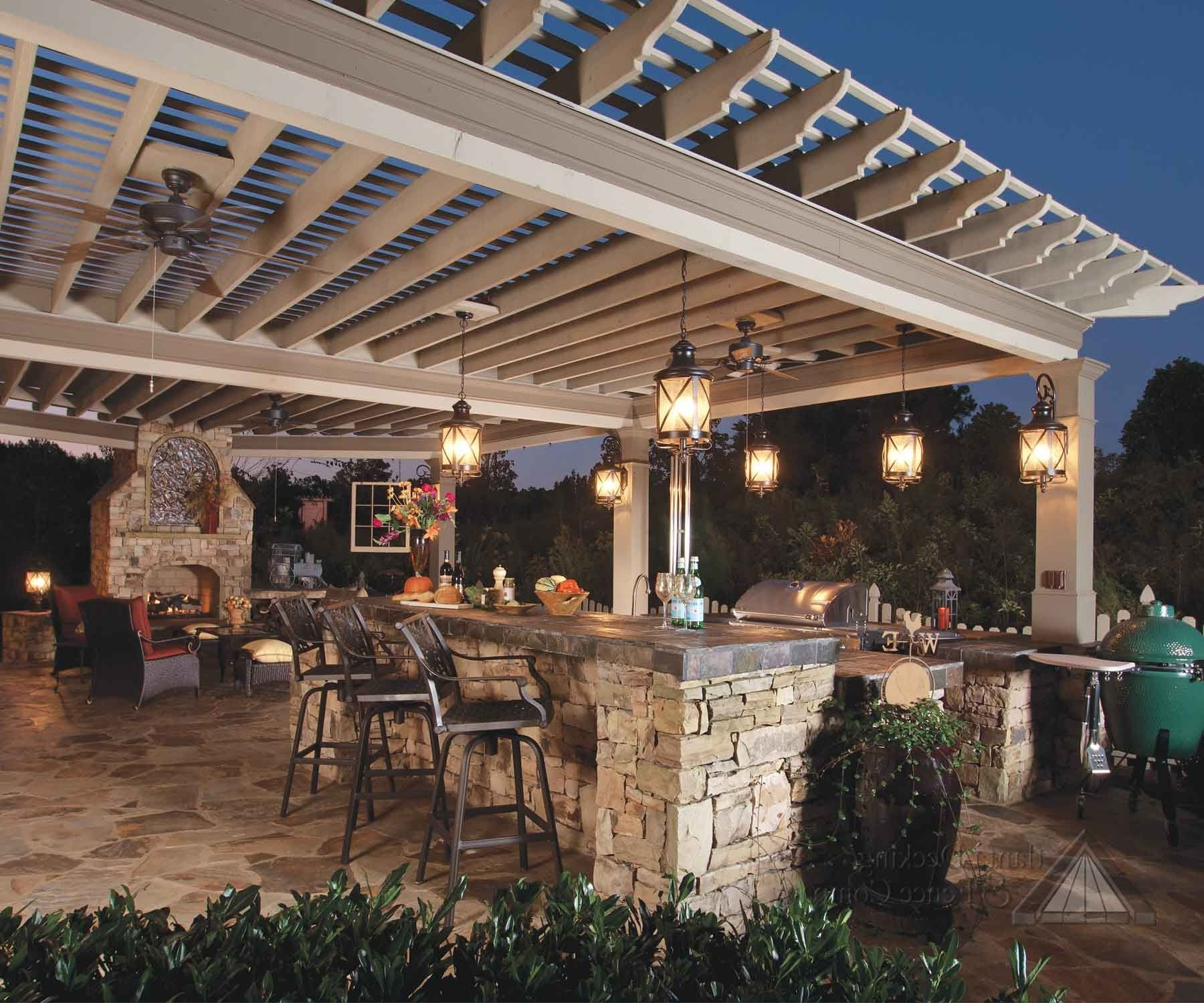 Outdoor And Patio: Outdoor Hanging Lighting In Black Lamp Case For Within Outdoor Ceiling Lights For Patio (#10 of 15)