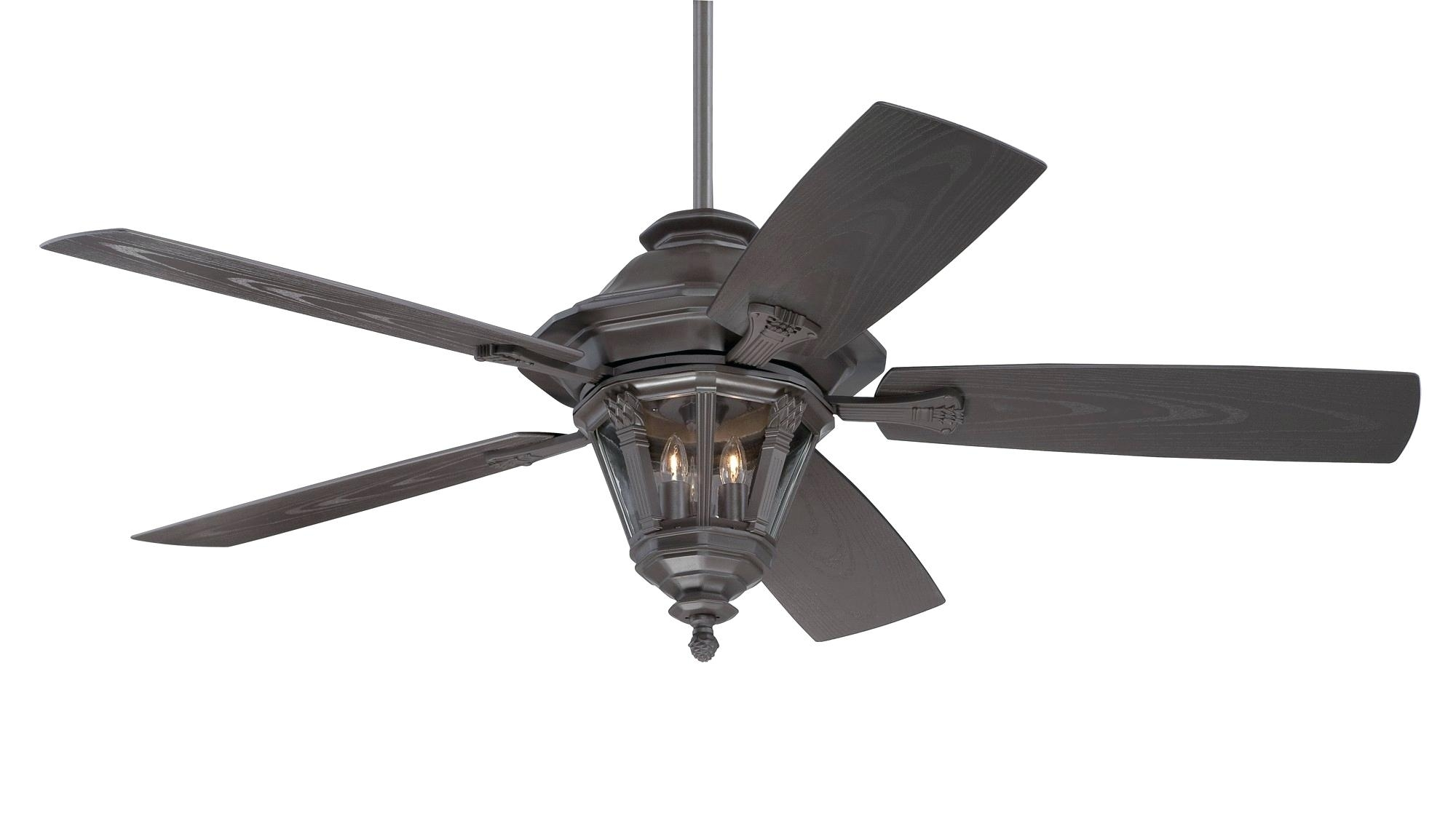 Outdoor Black Ceiling Fan No Light Hanging Best Damp Rated Fans Pertaining To Black Outdoor Ceiling Fans With Light (#12 of 15)