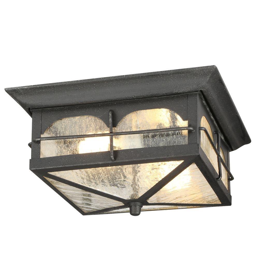 Outdoor Ceiling Lighting – Outdoor Lighting – The Home Depot Regarding Outdoor Ceiling Mount Porch Lights (#8 of 15)