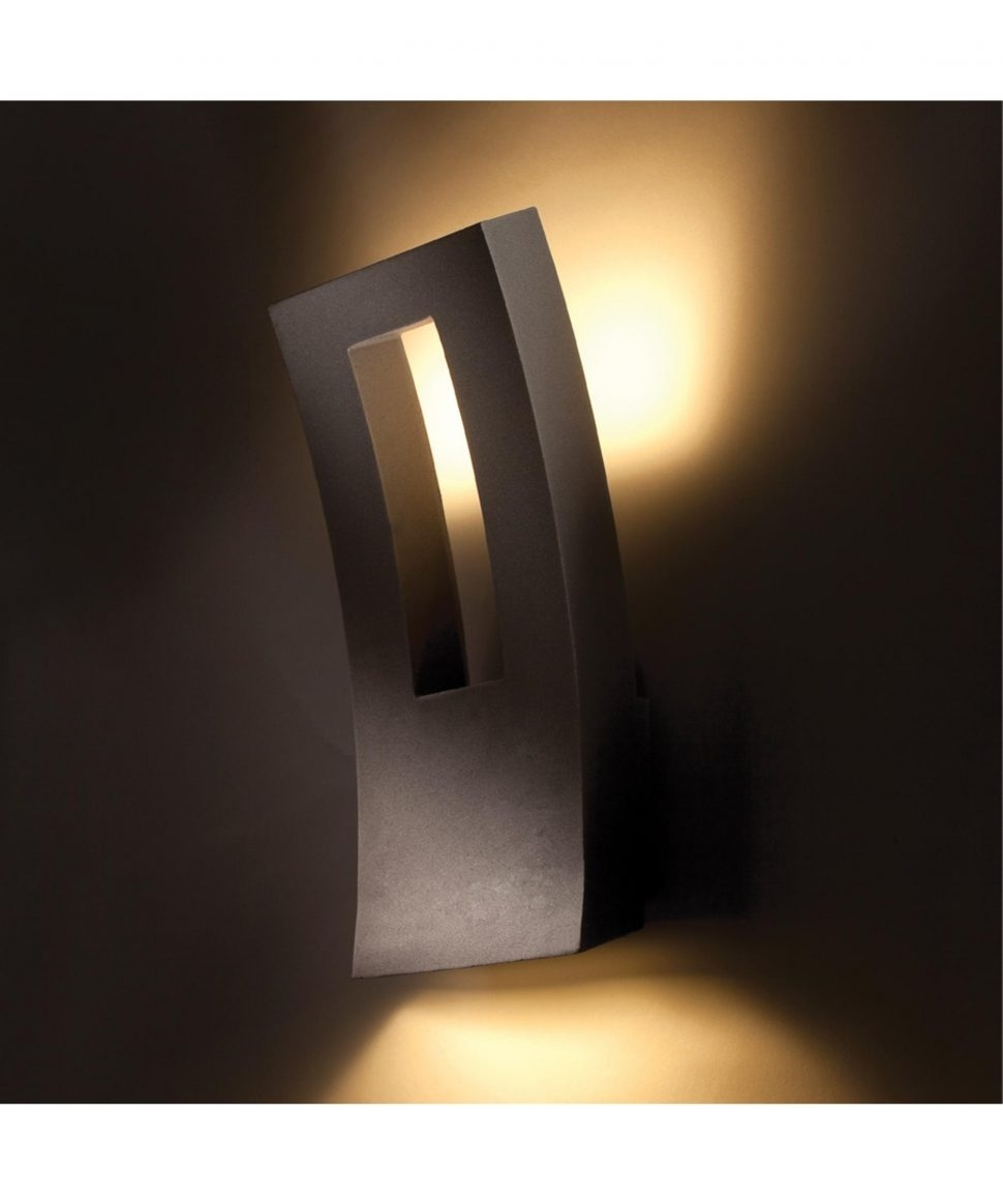 Outdoor : Contemporary Outdoor Security Lighting Stainless Wall Throughout Black Contemporary Outdoor Wall Lighting (#14 of 15)