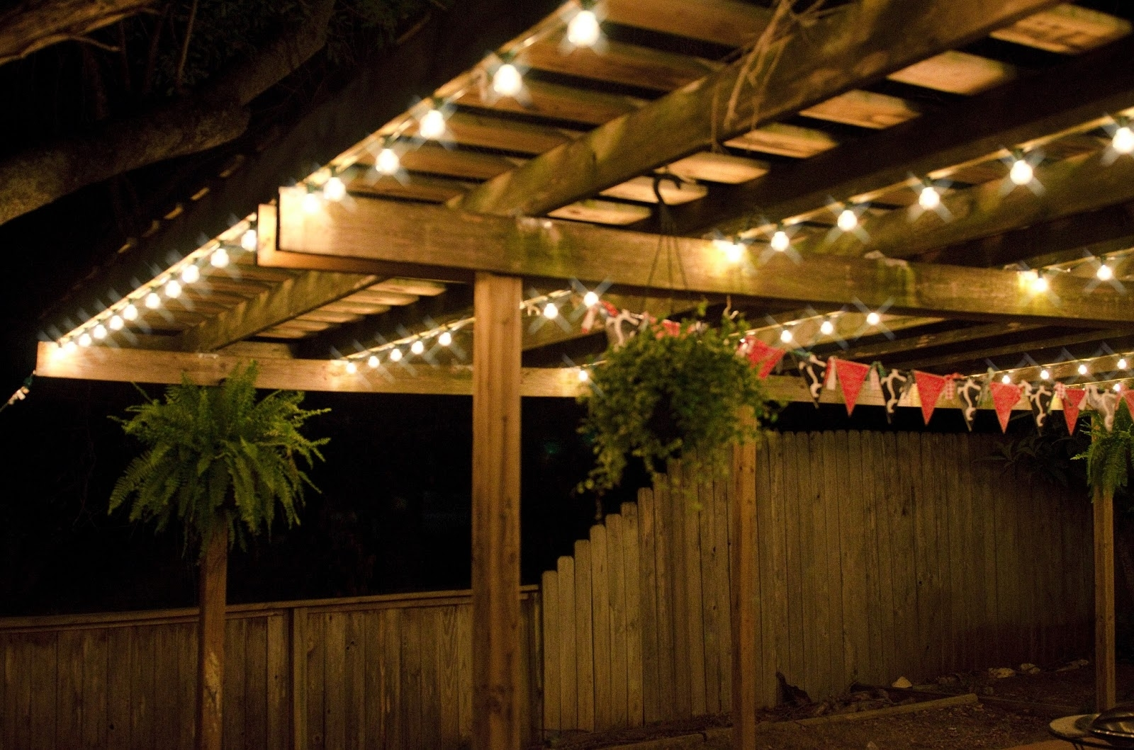 Outdoor Deck String Lighting Also How To Hang Lights On Ideas Images Regarding Outdoor Hanging Lights On String (#8 of 15)
