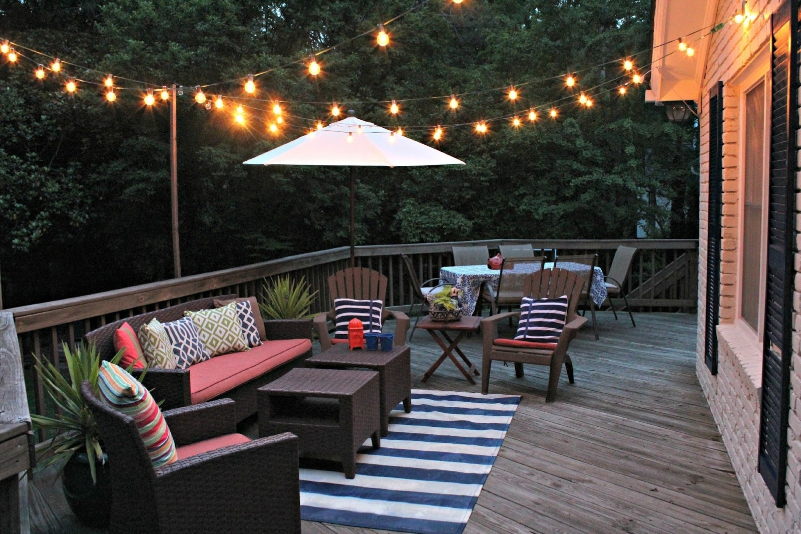 Outdoor Deck String Lighting Collection Including Ideas Led Lights With Regard To Outdoor Hanging Deck Lights (View 6 of 15)