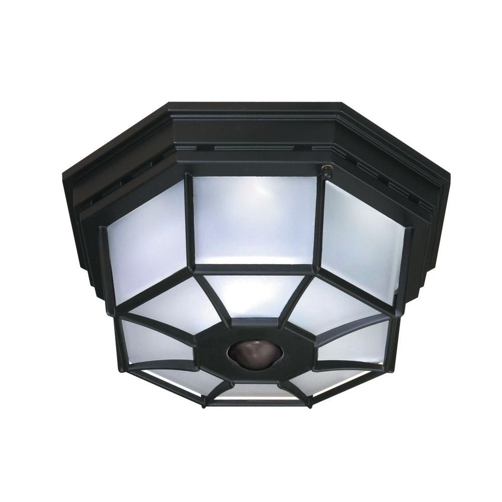 Outdoor Flush Mount Ceiling Light With Motion Sensor Sofas Couches Within Outdoor Ceiling Lights With Sensor (#13 of 15)