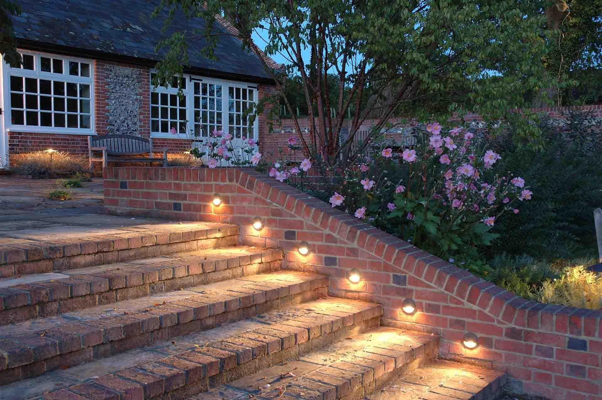 Outdoor Globe String Lights Ideas And Pictures Hanging With Black With Regard To Hanging Outdoor Lights On Brick (#15 of 15)