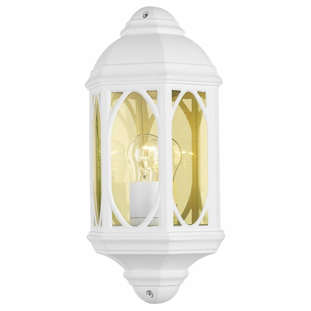 Outdoor Half Wall Lantern – White – Lightbox Pertaining To Outdoor Wall Lights In White (#8 of 15)