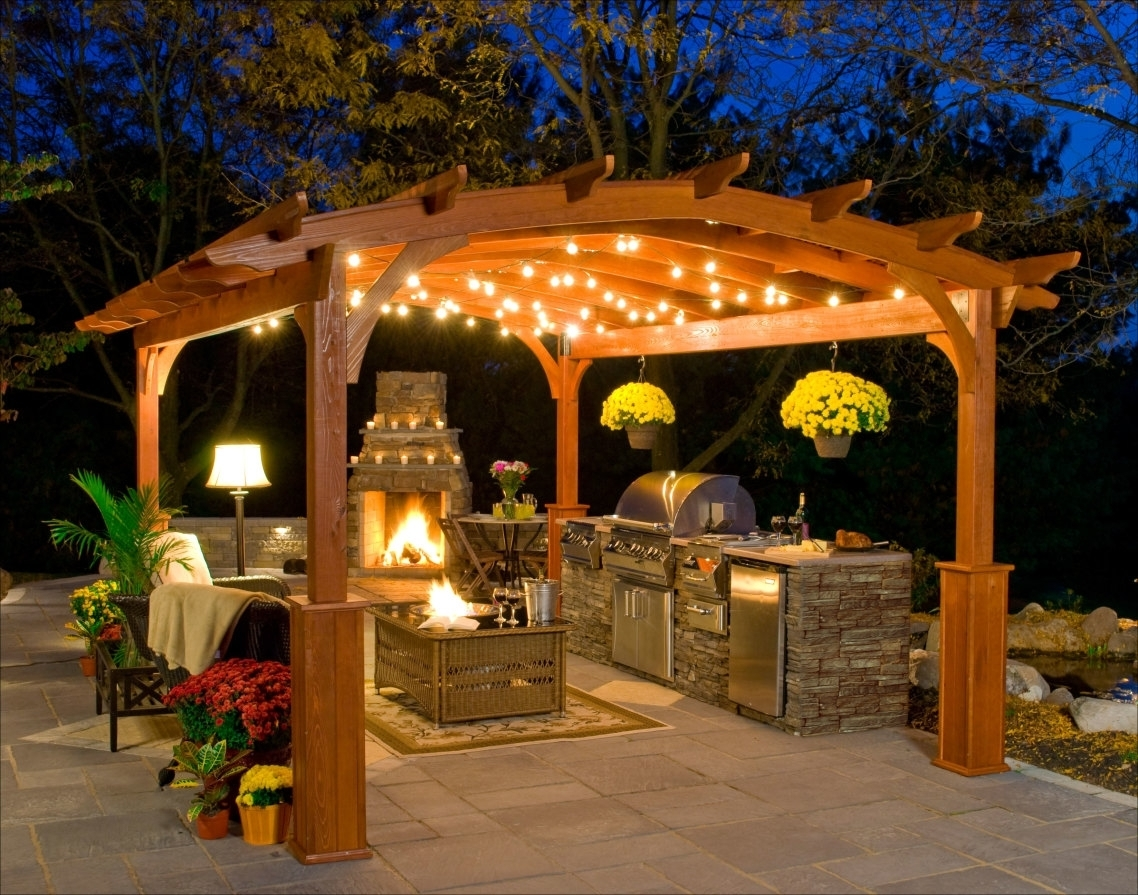 Popular Photo of Outdoor Hanging Lights For Gazebos