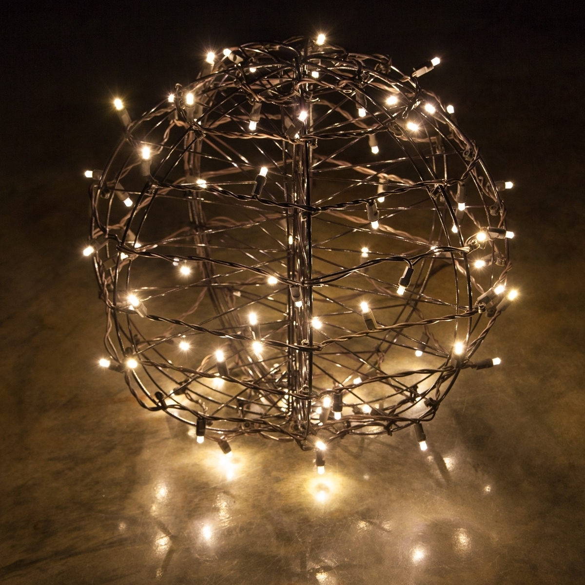 Popular Photo of Outdoor Hanging Sphere Lights