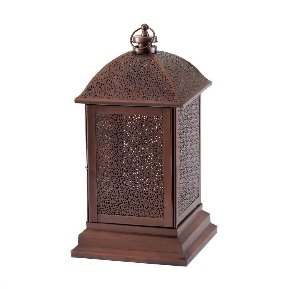Outdoor Lantern, Peregrine Large Metal Decorative Floor Patio For Outdoor Hanging Decorative Lanterns (#11 of 15)