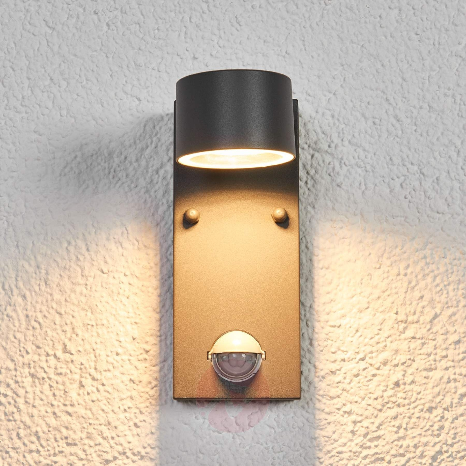Outdoor Led Wall Light Lexi With A Sensor | Lights.co (#9 of 15)