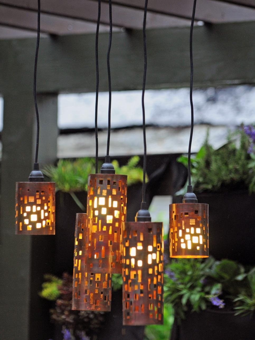 Outdoor Lighting: Amusing Outdoor Hanging Lights Patio How To Hang Intended For Round Outdoor Ceiling Lights (#9 of 15)